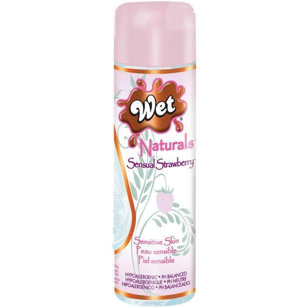 Wet - Naturals Sensual Strawberry Waterbased Personal Lube (Clear) Lube (Water Based) - CherryAffairs Singapore