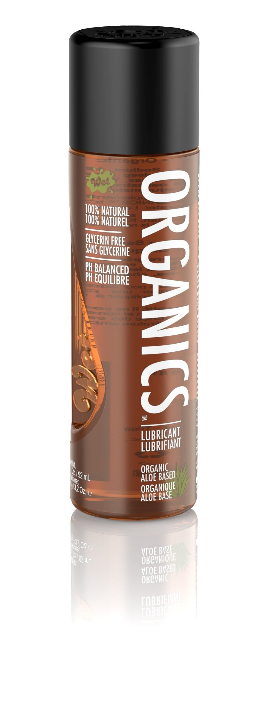 Wet - Organics Lubricant 3oz (Brown) Lube (Water Based) Singapore