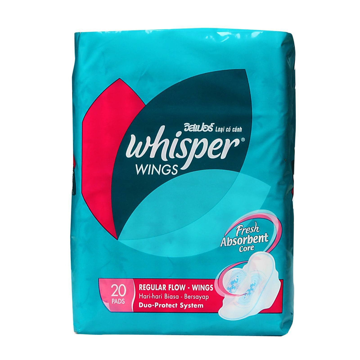 Whisper - Regular Flow Wings 20s Panty Liners - CherryAffairs Singapore