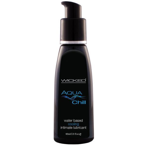 Wicked - Aqua Chill Waterbased Cooling Lubricant 2oz Cooling Lube - CherryAffairs Singapore