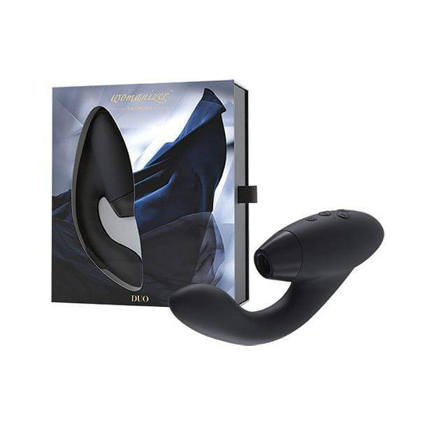 Womanizer - The Original Duo Clit Massager (Black) Clit Massager (Vibration) Rechargeable