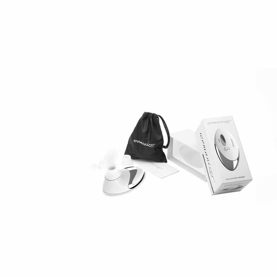 Womanizer - W500 Pro Clit Stimulator (White) Clit Massager (Vibration) Rechargeable - CherryAffairs Singapore