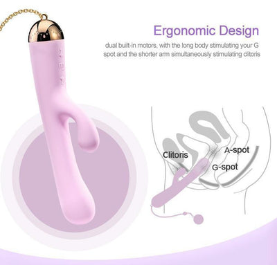 Zalo - Lolita Ichigo Rabbit Vibrator (Strawberry Pink) Rabbit Dildo (Vibration) Rechargeable - CherryAffairs Singapore