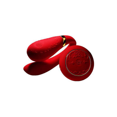 Zalo - Versailles Fanfan Remote Control Couple's Vibrator (Red) Remote Control Couple's Massager (Vibration) Rechargeable - CherryAffairs Singapore