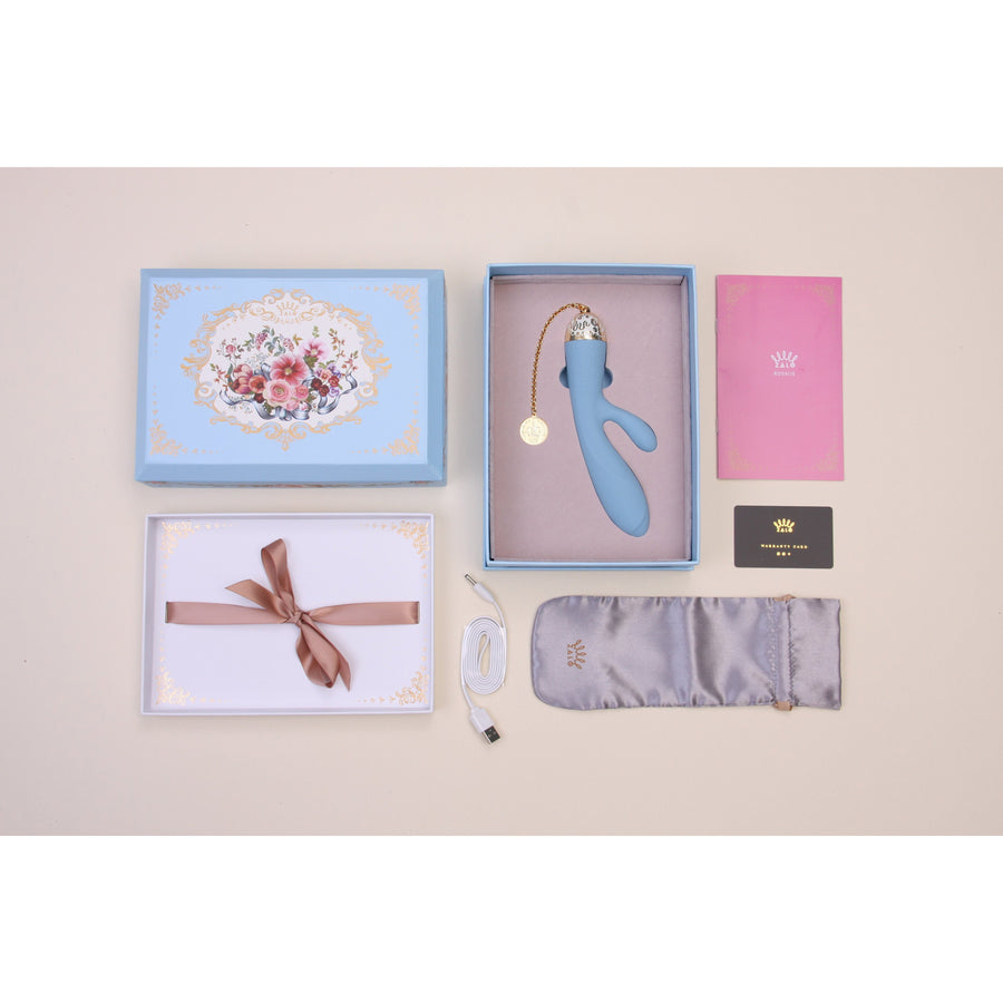 Zalo - Versailles Rosalie Rabbit Vibrator (Royal Blue) Rabbit Dildo (Vibration) Rechargeable - CherryAffairs Singapore