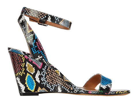Vince Camuto Women's Gallanna Ankle Strap Wedge Sandal MULTI