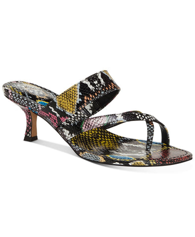 Vince Camuto Women's Moentha Kitten-Heel Slip-on Flat Slide Dress Sandals MULTI