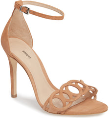 Schutz Sthefany Toasted Nut Open Toe Adjustable Buckle Ankle Strap Sandal