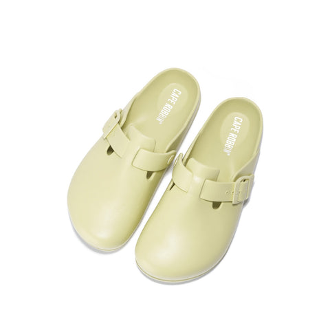 Cape Robbin KOOSH Comfort Garden Mules Cream Beige Slip ON Clog Sandals