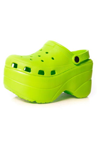 Cape Robbin Gardener Lime Platform Clogs Slippers Fashion Comfortable Shoes