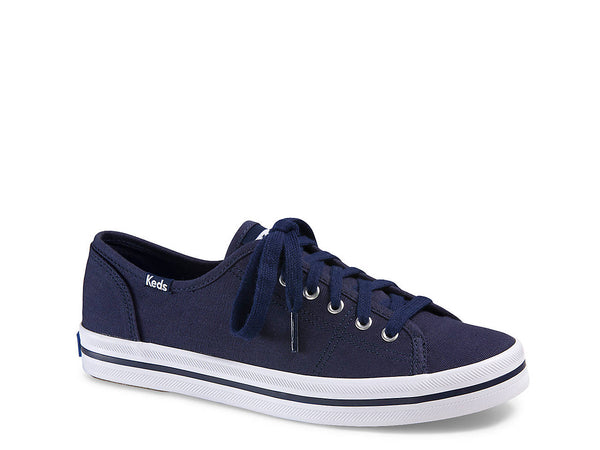 Keds Women's Kickstart Fashion Sneaker Navy Canvas Lace Up Platfrom Tennis Shoes