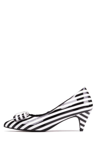 Jeffrey Campbell Marvelette, Patent Leather Black White Stripes