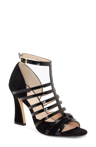 Louise et Cie Isora Caged Leather Pump Sandal BLACK