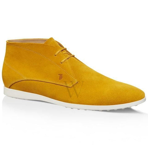 Tods Men's Suede Lace-up Ankle Boots-Amber XXM0TF00D80RE0G403