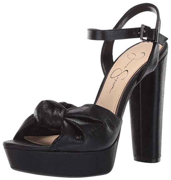 Jessica Simpson Ivrey Black Knot Platform High Heel Pump Sandals