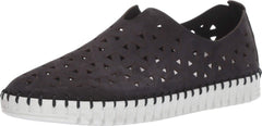 Eric Michael Inez European Open Lattice Light Weight Slip On Flat Black