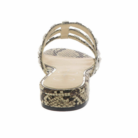 Jessica Simpson Women's Caira 2 Flat Studded Slide Slip On Sandals NEUTRAL