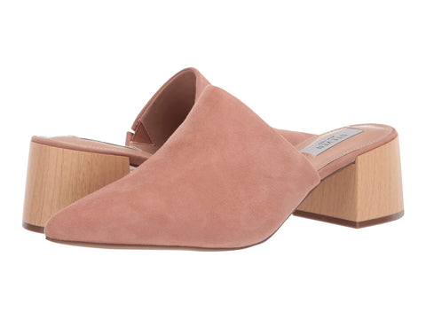 Steve Madden Women's Fannie Slip On Pointed toe Slide Mules Nude Suede
