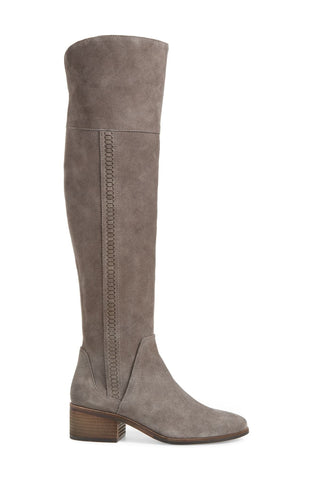 Vince Camuto KREESELL2 Wide Calf Pointed Toe Knee High Boot GRAYSTONE