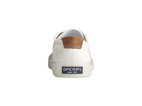 Sperry Striper Ii LTT Lace Up Lightweight Canvas Sneaker SW WHITE