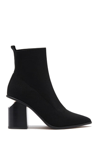 Steven By Steve Madden Nikia Black Point-Toe Ankle High Bootie