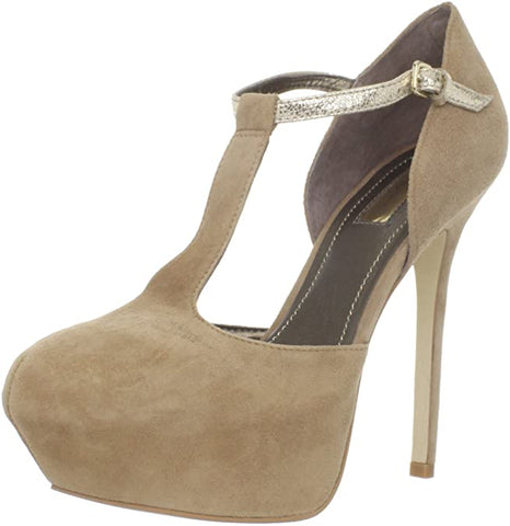 Report Signature Women's Ryerson T-Strap Pump (8.5 B(M) US, Sand)