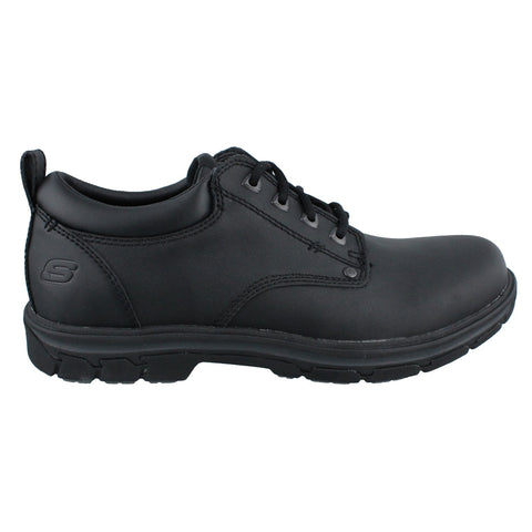 Skechers Men's Segment Rilar Lace Up Casual Plain Toe Comfort Oxford BLACK