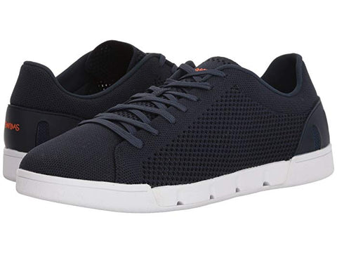 SWIMS Breeze Knit Tennis Knit Sneakers, light weight rubber sole Navy/white