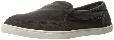 Sanuk Women's Pair O Dice Washed Black Sneakers Slip on Flats