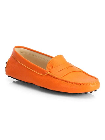 Tod's Men's NUOVO Gommino Orange Moccasins Loafers Shoes, MANDARINO (5.5 UK / 6.5 US, )