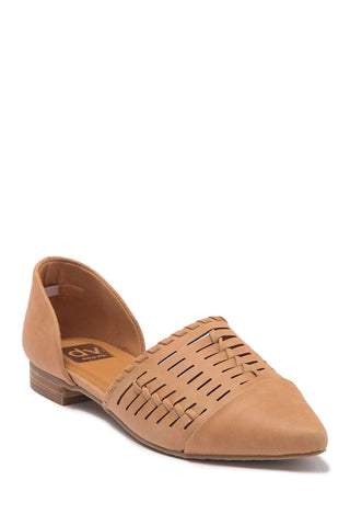 Dolce Vita Dell Woven Two Piece D'Orsay Flat Tan POinted Toe