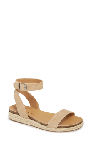 Lucky Brand Women's Garston Espadrille Wedge Flat Sandal TRAVERTINE
