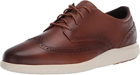 Cole Haan Men's Grand Plus Essex Lace Up Wing Tip shoes British Tan Sneakers