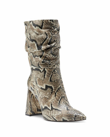 Vince Camuto AMBIE Pull On Pointed Toe Boot Multi Snake Slouchy Boots