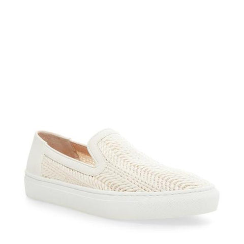Steve Madden Kicks Raffia Slip On Sneakers White Multi Slip On Shoes
