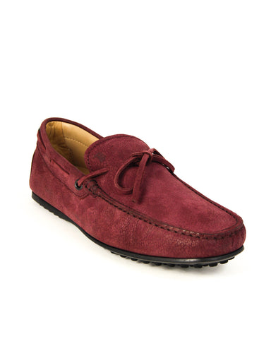 Tod's LACCETTO Gommino Red Leather Moccasin Loafer Barolo XXM0LR000519CMR803