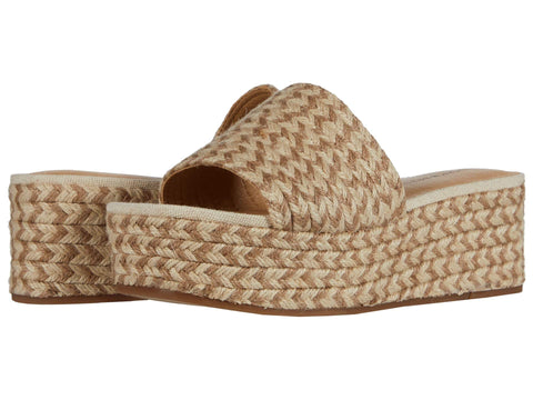 Lucky Brand Women's Befanni Slip-On Espadrille Wedge Sandal PEACH/NATURAL