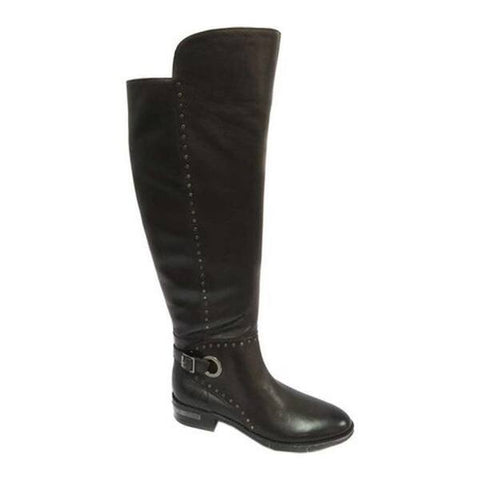 Vince Camuto Women's Poppidal Pointed Toe Knee High Leather Boot MOCHA MOUSSE