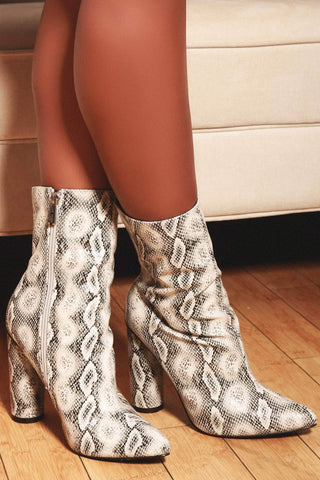 Cape Robbin Glowing Snake Chunky Block High Heel Zipper Glow In The Dark Boots