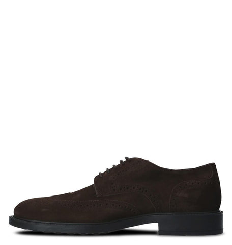 Tod's Men's DERBY Shoes Leather Oxfords Sneakers,XXM0ZW00C10RE0S800 BROWN SUEDE