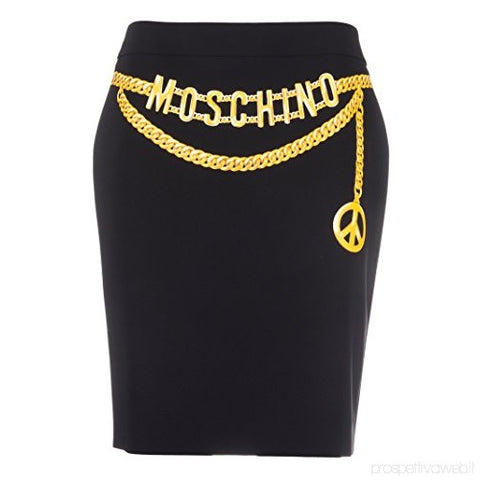 Moschino Women's Acetate Skirt Black J010104243555