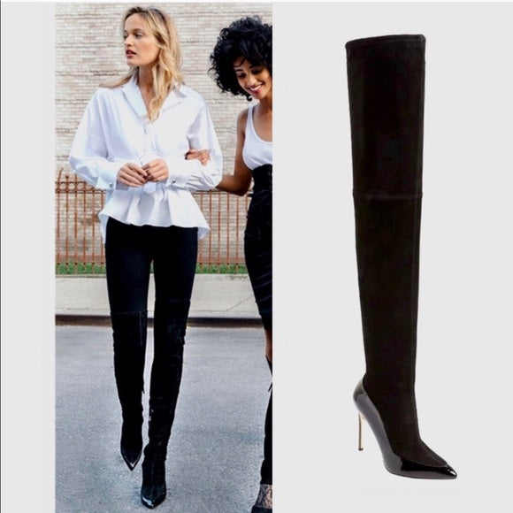 Pour La Victoire Cassie Over The Over The Knee Thigh High Pointed Dress Boots