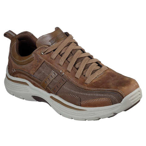 Skechers Men's EXPENDED-MANDEN Leather LACE UP Oxford DESERT