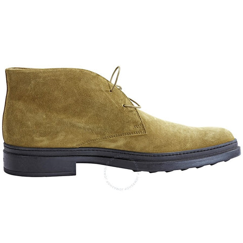 Tod's Men's Suede Lace Up Ankle Boots Fern Green XXM0UI00D80RE0V804