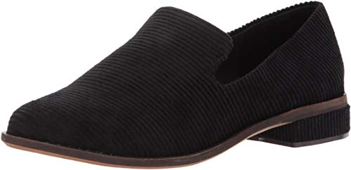 Kelsi Dagger Brooklyn Women's Arbor Loafer Black Corduroy Slip On Flat Oxfords