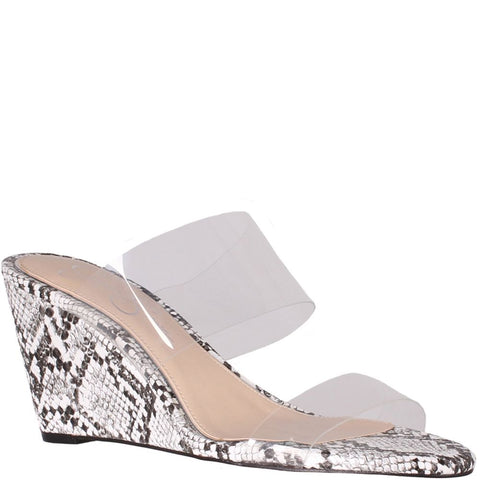 Jessica Simpson Women's Cilvey Wedge Slide Slip on Sandal Clear