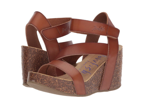 Blowfish Hapuku Wedge Sandal Scotch Dyecut PU
