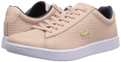 Lacoste Women's Carnaby EVO 118 5 SPW Sneaker, Natural/Navy