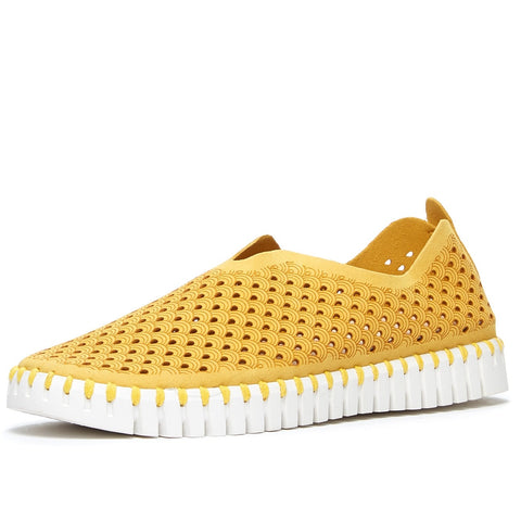 ILSE JACOBSEN Women's Tulip Light Weight Slip On Sneaker Golden Rod