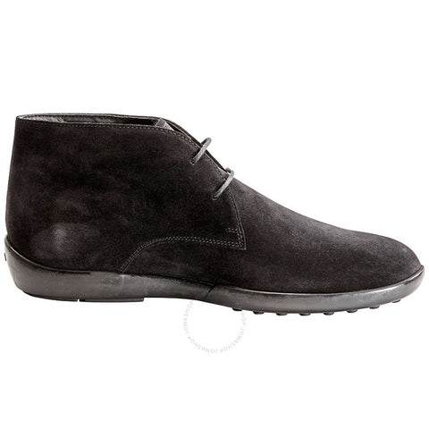 TOD'S Men's Lace-up Suede Ankle Boot Black XXM0ZG00D80RE0B999